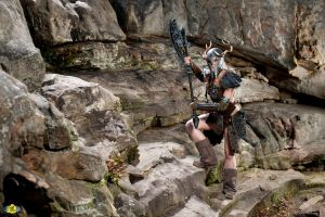 Scaling the Mountains of Skyrim by LyddiDesign