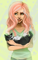 Cat lady by lyssh