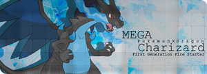 Mega Charizard X V.1 Signature Banner By Me by Laurello7