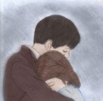 Edmund and Lucy hugging by iNarniax3