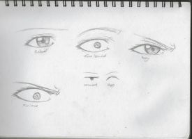 Eye emotions by Ziiteara