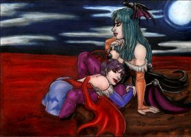 +LilithxMorrigan+ by MaliciousMisery