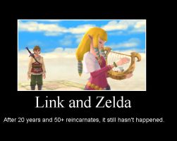 Link and Zelda Demotivational by SylverDragonREX