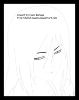 Young Orochimaru lineart by Hand-Banana