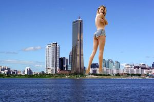 Giantess in the city 16 by lala222221