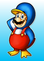 Penguin Mario by MushroomWorldDrawer