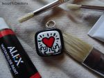 Keith Haring Charm by BeppasCreations