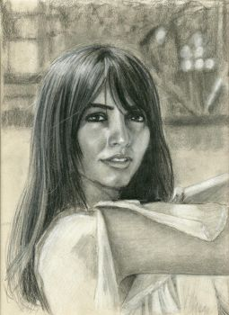 Brunette Girl (drawn from internet photo) by vytera
