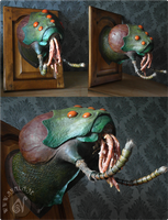 Frank the Plant-Eater - Monster Creature Wallmount by Nymla