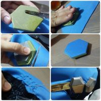 DIY on EVA Foam attach to fabric by LadyAngelus