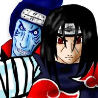 itachi and kisame by onimushawn
