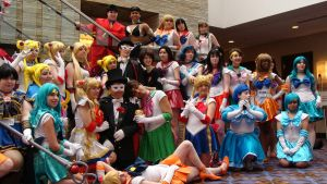 Sailor Moon Cosplay Group shot Acen 2012 by StormyNight79