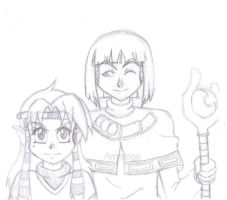 Xelloss and Teale Sketch1 by Starimo