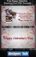Free Happy Valentine Greeting Card PSD Template by MGraphicDesign