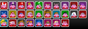 Smash Bros Wishlist of Kirbies by UMSAuthorLava