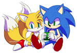 Sonic and Tails by Myly14