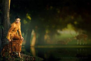 Yola In An Enchanted Garden by perigunawan