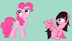 Pinkie pie and Cotton candy by Animegirl177
