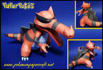 Krookodile Papercraft by Skeleman