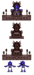 Mecha Sonic Throne Sprites by SuperYaridovich999