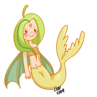 [CLOSED] 10pt-SALE 003 Fin-winged Mermaid by OkayIlie