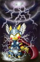 Request: Pikachu as God of Thunder by ECrystalica