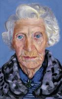 Study of Hockney's Mother by Angelinetta
