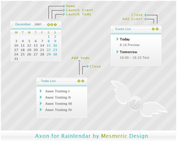 Axon for Rainlendar by MesmericDesign