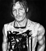 Norman Reedus aka Daryl Dixon by mellimac