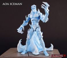 Age of Apocalypse Iceman custom figure by Jin-Saotome