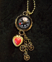 Steampunk Compass and Heart by mymysticgems