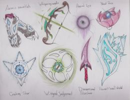 Artifacts ~ Thunder / Wind / Darkness / Ice by Dragon-Wish
