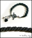 Twisted Heart Bracelet by ElvenstarArt