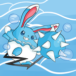 Request Mega Azumarill (SPEED PAINT INCLUDED) by thegamingdrawer