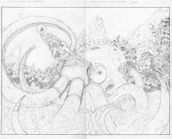 Starfire vs. Textures, pg 5-6 by misterclayton