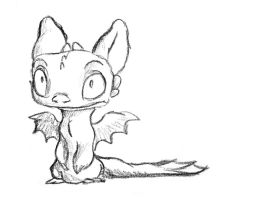 Toothless a la Chris Sanders by AriellaMay