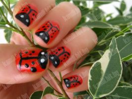 Ladybird nails part 8 by xzibitka