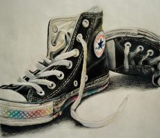 Prismacolor Converse by snoxness
