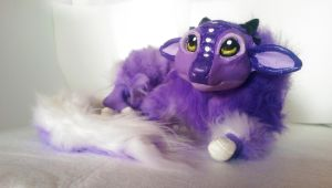 Handmade poseable Grape dragon SOLD by KaypeaCreations