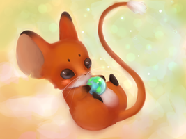 Foxy mouse by kusoart
