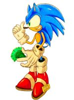 Sonic has Collected a Chaos Emerald by DarkGamer2011