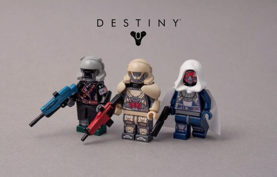 Lego Destiny figures by exxtrooper
