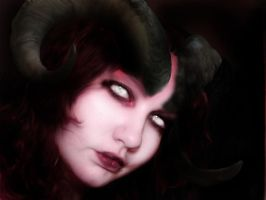 Tiefling Rouge Self Portrait by foxkat