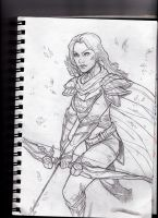 Windrunner gets there first - dota2 sketch by IgorChakal