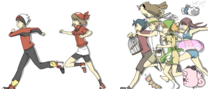 Pokemon trainers appeared by lawy-chan