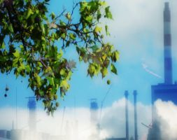 Nature and Industrial Bliss by MushroomBrain