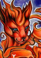 Flareon Pokemon ACEO by Sternen-Gaukler
