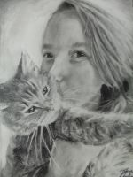 Me And My Cat by Turquoise-Tangerine