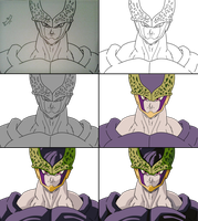 How I Painted Cell DBZ by Danilo34Ramos