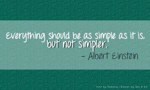 Everyday Quote #11: Simplicity by sugarnote